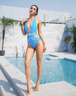Elise Sky Blue Crystal Embellished Monokini Swimsuit - Fashion Genie Boutique USA Alt