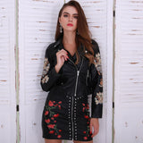 Dream Keeper Black Faux Leather Embroidered Jacket - Fashion Genie Boutique