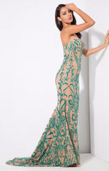 Saints & Sinners Green Sequin Strapless Maxi Dress - Fashion Genie Boutique USA Alt
