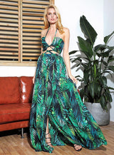 Summer Story Green Cut Out Maxi Dress - Fashion Genie Boutique