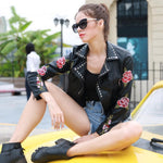 Latest Lineup Black Faux Leather Embroidered Jacket - Fashion Genie Boutique