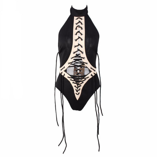 Beach Beliefs Black Lace Up Swimsuit - Fashion Genie Boutique