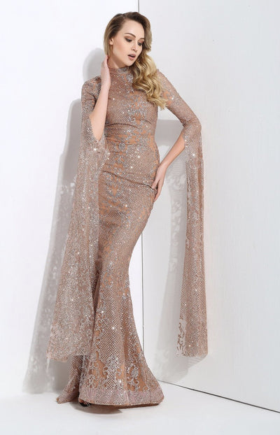Queen Of The Night Gold Glitter Fishtail Maxi Dress - Fashion Genie Boutique USA Alt