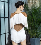 Infatuated With You White Fringe Playsuit - Fashion Genie Boutique