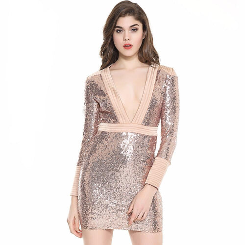 Lovely Lady Rose Gold Mini Dress