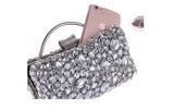 Jane Silver Diamond Rhinestone Clutch Bag - Fashion Genie Boutique USA Alt