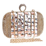 Annie Rose Gold Rhinestone Embellished Clutch Bag - Fashion Genie Boutique USA Alt