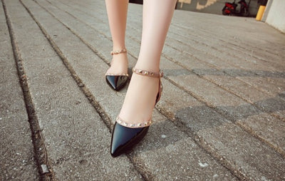 Between Me and You Black Studded Pumps - Fashion Genie Boutique USA Alt