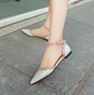 Between Me and You White Studded Pumps - Fashion Genie Boutique USA Alt
