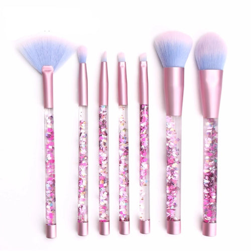 Aquariumb Mermaid Glitter Make Up Brushes - Fashion Genie Boutique USA Alt
