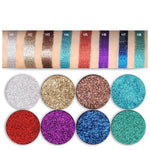 TZ Cosmetics Single Pressed Powder Glitter Eyeshadow - Fashion Genie Boutique USA Alt