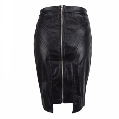 Sin City Faux Leather Studded Mini Skirt - Fashion Genie Boutique USA Alt