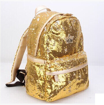 Rose Gold Sequin Mini Backpack - Fashion Genie Boutique USA Alt