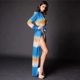 Shaya Blue Multi Maxi Kaftan - Fashion Genie Boutique