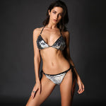 Little Venice Silver Sequin Bikini Swimsuit - Fashion Genie Boutique