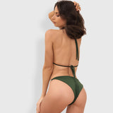 Cocktails and Canopies Green Rhinestone Bikini Swimsuit - Fashion Genie Boutique