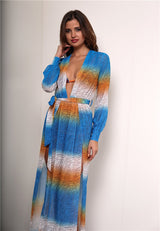 Makena Blue Multi Maxi Kaftan - Fashion Genie Boutique
