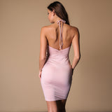 Renai Pink Ruffle Mini Dress - Fashion Genie Boutique USA Alt
