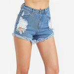 The Boyfriend Blue Distressed Denim Shorts - Fashion Genie Boutique