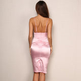 Ready For Love Pink Slinky Mini Dress - Fashion Genie Boutique USA Alt