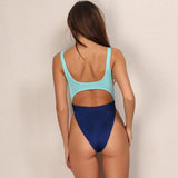 Easy Breeze Turquoise & White Cut Out Swimsuit - Fashion Genie Boutique