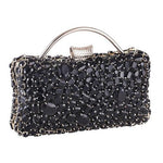 Jane Black Diamond Rhinestone Clutch Bag - Fashion Genie Boutique USA Alt
