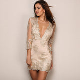 Sparkle Delight Gold Sequin Mini Dress - Fashion Genie Boutique USA Alt