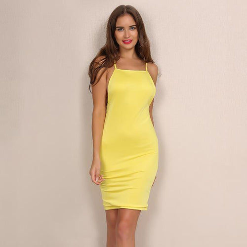 Hot Mama Yellow Mini Dress - Fashion Genie Boutique
