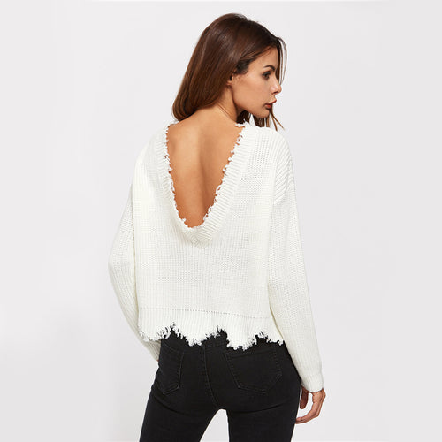 Cute In Cable Cream Scallop Hem Sweater - Fashion Genie Boutique USA Alt