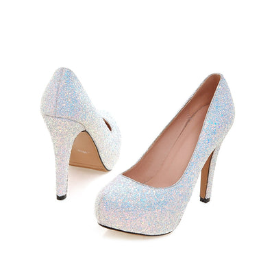 Dirty Dancing White Glitter Court Shoes - Fashion Genie Boutique USA Alt