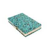 Nina Blue Stone Embellished Clutch Bag - Fashion Genie Boutique USA Alt