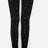 Others Follows Black Pearl Embellished High Waisted Leggings - Fashion Genie Boutique