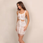 Savage Nude Cut Out Mini Dress - Fashion Genie Boutique