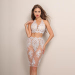 Aussie Babe White Lace Crop Top & Mini Skirt Two Piece - Fashion Genie Boutique