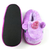 I Heart Unicorns Purple Slippers - Fashion Genie Boutique