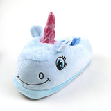 I Heart Unicorns Blue Slippers - Fashion Genie Boutique