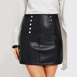 Nights Like This Black Faux Leather Mini Skirt - Fashion Genie Boutique
