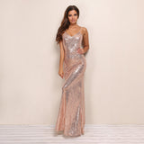 Golden Fantasy Bronze Sequin Maxi Dress - Fashion Genie Boutique USA Alt