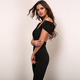 Jump Into Love Black Bardot Jumpsuit - Fashion Genie Boutique USA Alt