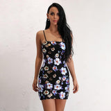 Link Up Black Floral Mini Dress - Fashion Genie Boutique USA Alt