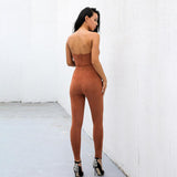 Turning Heads Brown Faux Suede Jumpsuit - Fashion Genie Boutique
