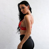 Rebirth Red Satin Crop Top - Fashion Genie Boutique USA Alt