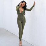 Deviant Green Tie Jumpsuit - Fashion Genie Boutique USA Alt