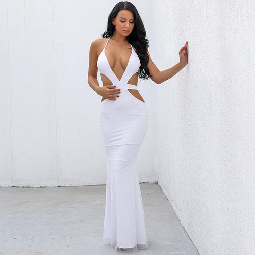 Never Wrong White Cut Out Maxi Dress - Fashion Genie Boutique