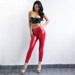 Crushing On You Red PU Leather Trousers - Fashion Genie Boutique