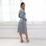 Bad At Love Grey Longline Tie Top - Fashion Genie Boutique