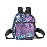 Mini Blue Sequin Backpack - Fashion Genie Boutique USA Alt