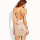 Grandeur Rose Gold Sequin Mini Dress - Fashion Genie Boutique