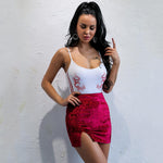 Shake Down Burgundy Velvet Mini Skirt - Fashion Genie Boutique