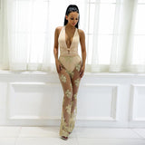 Make Me Blush Nude Mesh Jumpsuit - Fashion Genie Boutique